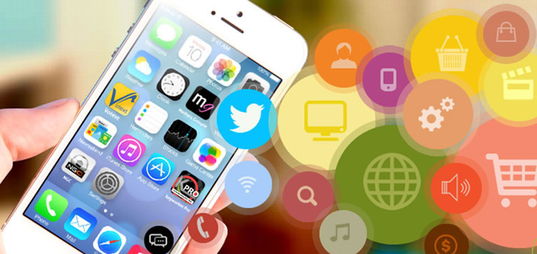 Trinetra iWay App can be integrated with custom mobile app development applications