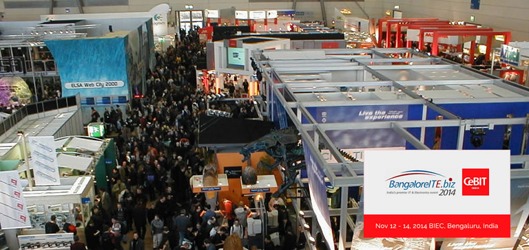 Trinetra iWay Exhibits in CeBIT 2014