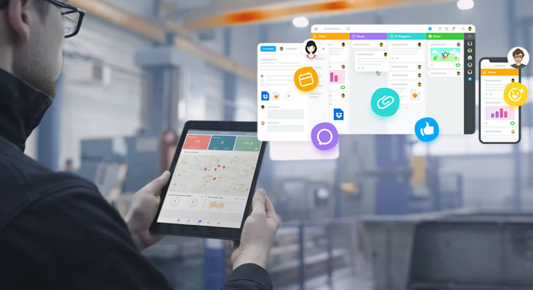 Improve work efficiency using integrated Mobile app for management of on-field teams.